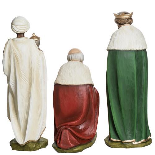Los Tres Reyes Magos 60 cm en fibra de vidrio 11