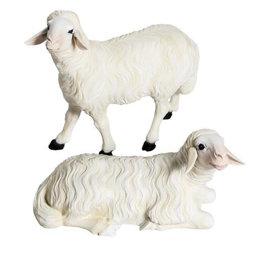 Moutons crèche Noel 60 cm, lot 2 pcs 1
