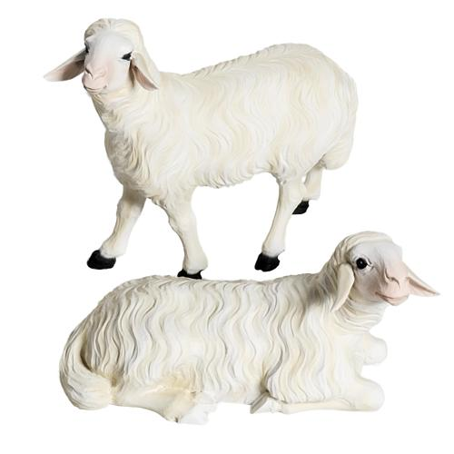 Due Pecore presepe 60 cm 1