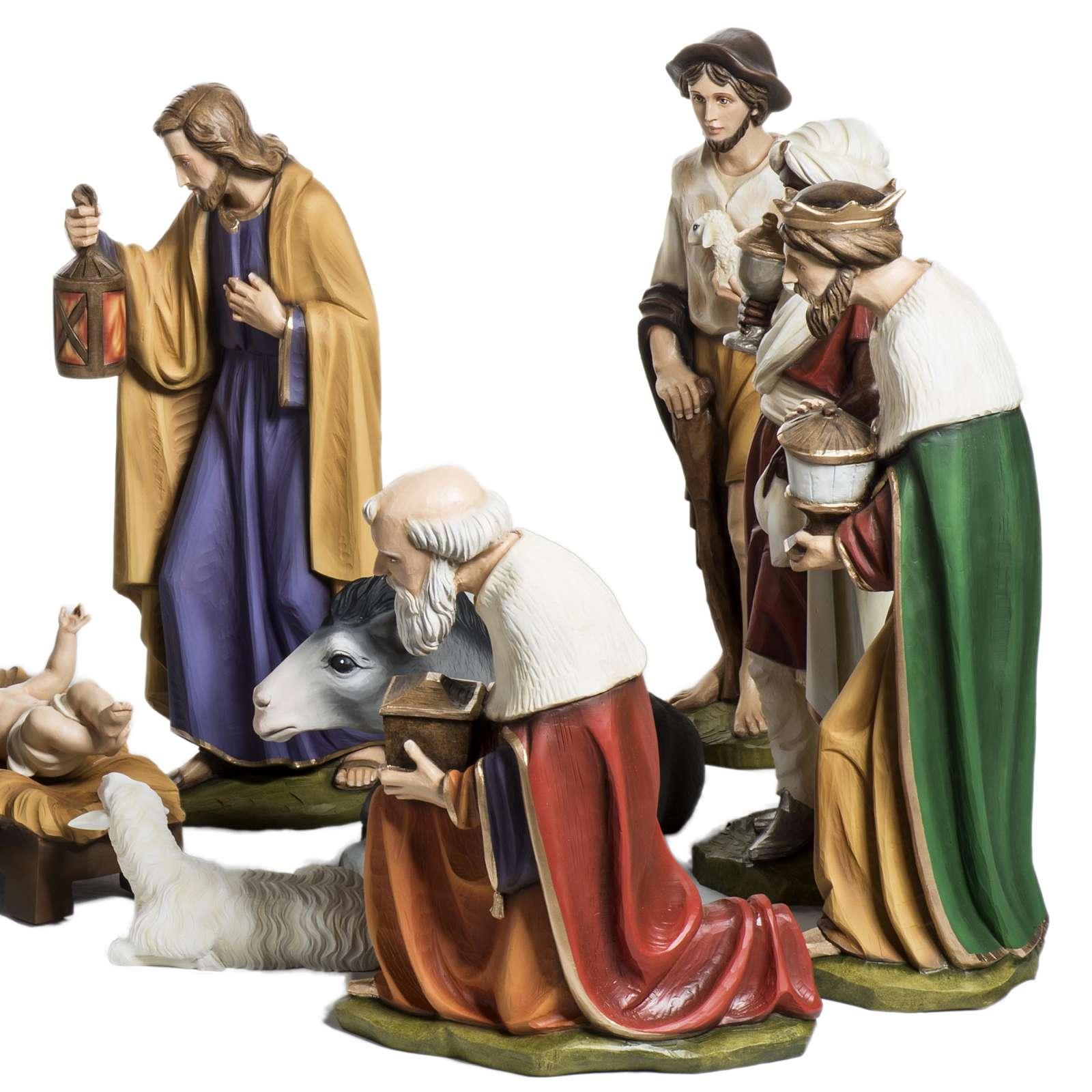 Crèche de Noel fibre de verre 60 cm 15 santons 4