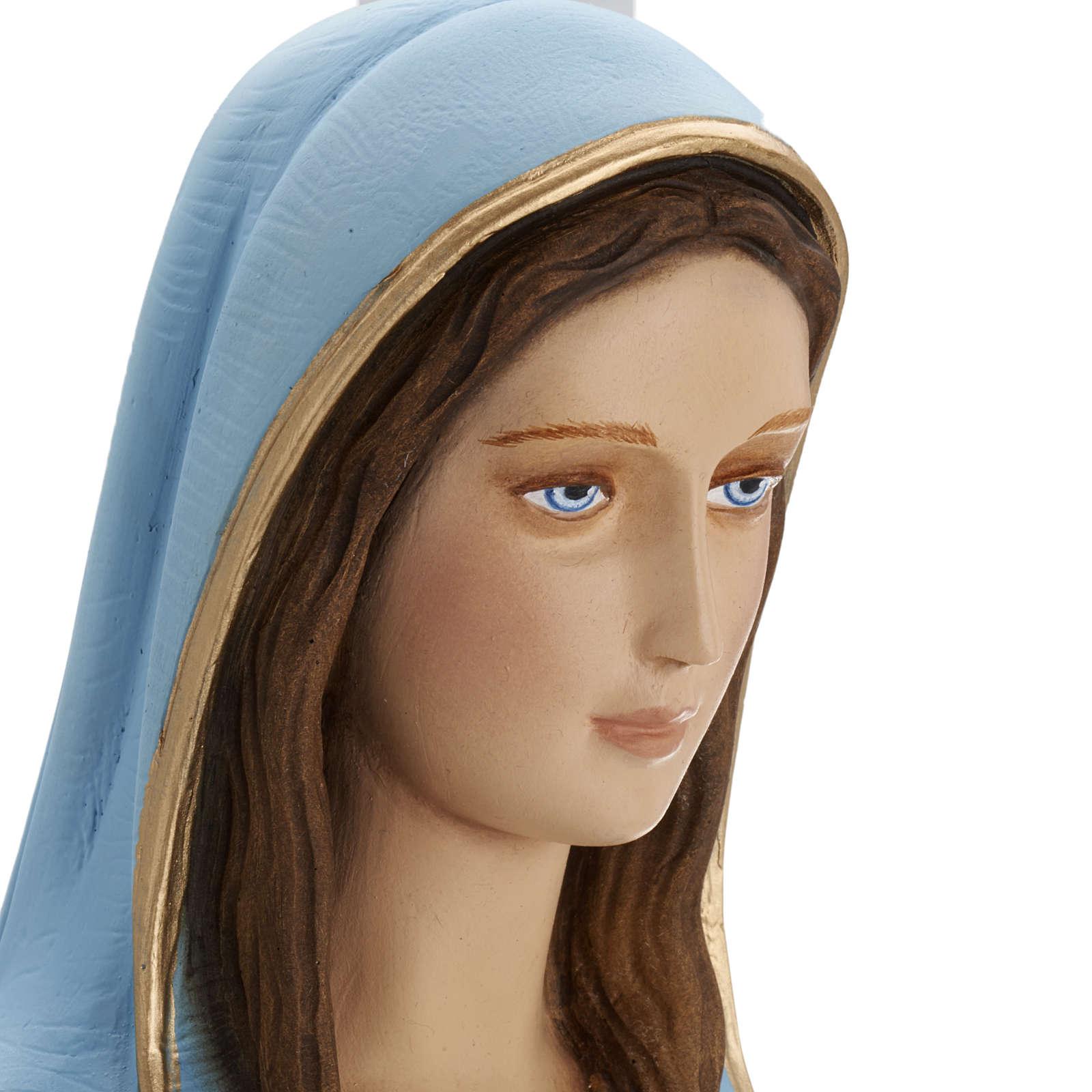 Virgen de la Milagrosa 80 cm en fibra de vidrio 4