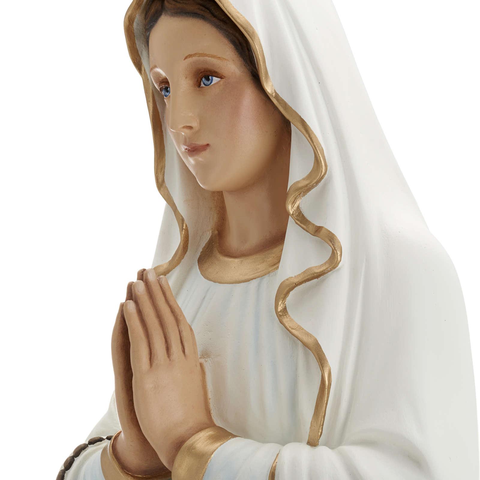 Our Lady of Lourdes fiberglass statue 85 cm 4