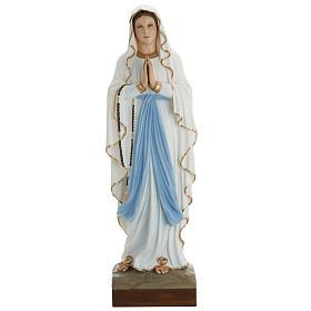 Our Lady of Lourdes fiberglass statue 85 cm s1