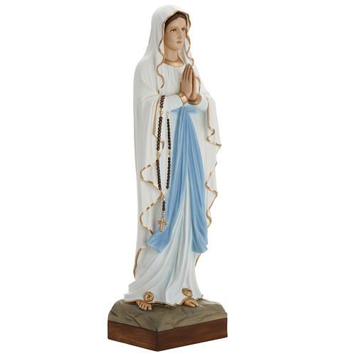 Our Lady of Lourdes fiberglass statue 85 cm 2
