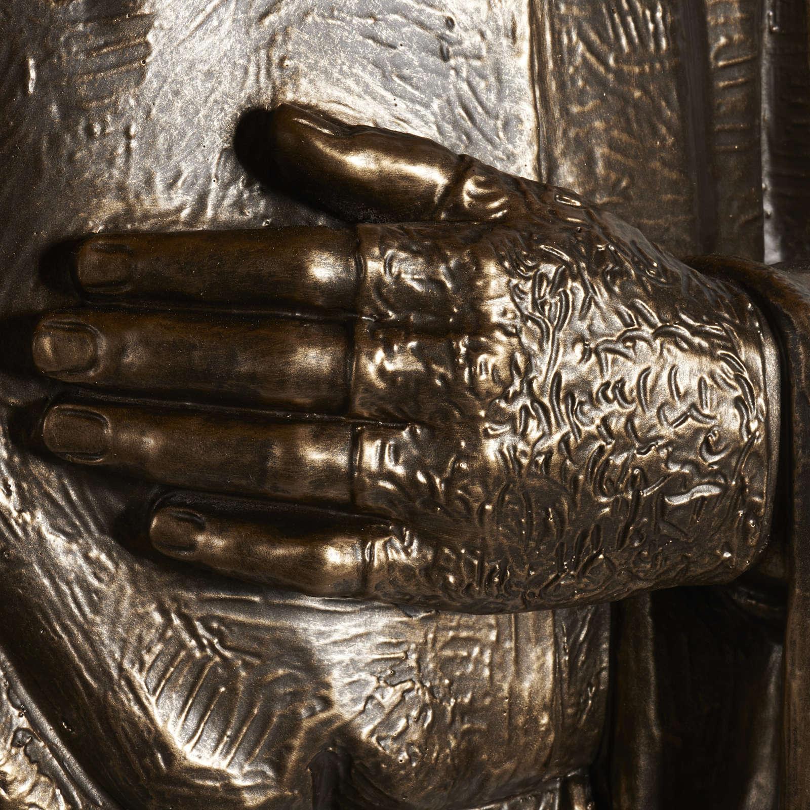 Estatua de San Pío pintada en color bronce 175cm 4