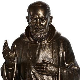 Estatua de San Pío pintada en color bronce 175cm s2