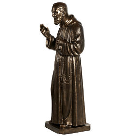 Estatua de San Pío pintada en color bronce 175cm s12
