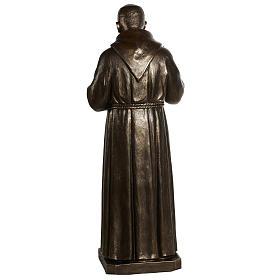 Estatua de San Pío pintada en color bronce 175cm s13