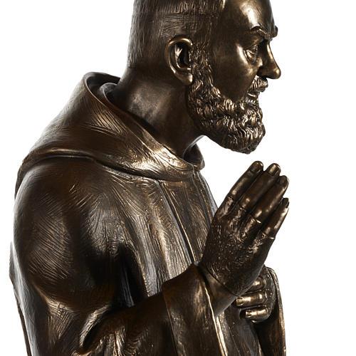 Estatua de San Pío pintada en color bronce 175cm 6