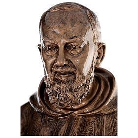 Statue Saint Pio fibre de verre patinée bronze 175 cm s4