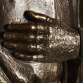 Statua San Pio vetroresina patinata bronzo 175 cm s4