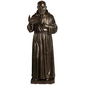 Saint Pio statue in fiberglass, bronze color 175 cm s1