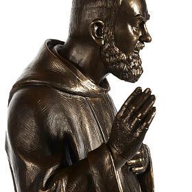 Saint Pio statue in fiberglass, bronze color 175 cm s6