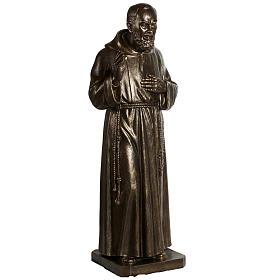 Saint Pio statue in fiberglass, bronze color 175 cm s11
