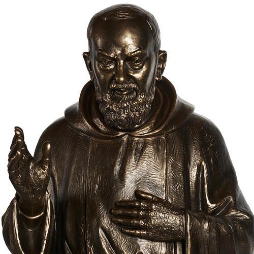 Saint Pio statue in fiberglass, bronze color 175 cm 2