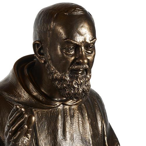 Saint Pio statue in fiberglass, bronze color 175 cm 3
