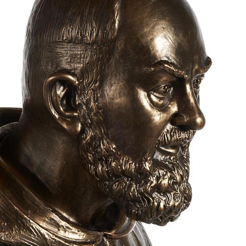 Saint Pio statue in fiberglass, bronze color 175 cm 7