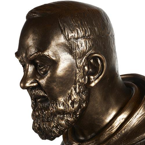 Saint Pio statue in fiberglass, bronze color 175 cm 8