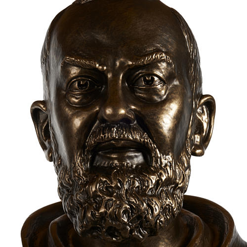 Saint Pio statue in fiberglass, bronze color 175 cm 9