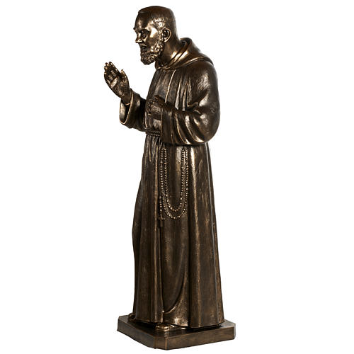 Saint Pio statue in fiberglass, bronze color 175 cm 12