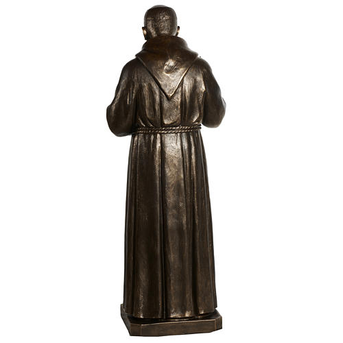 Saint Pio statue in fiberglass, bronze color 175 cm 13