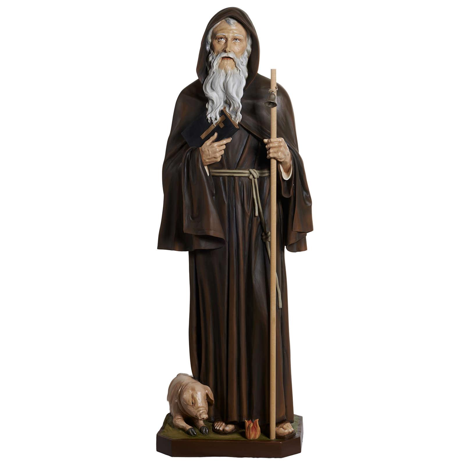 Statua Sant'Antonio Abate vetroresina 160 cm 4