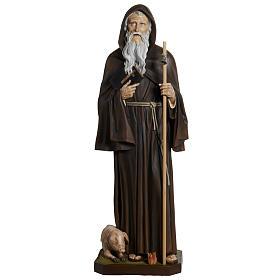 Statua Sant'Antonio Abate vetroresina 160 cm s1