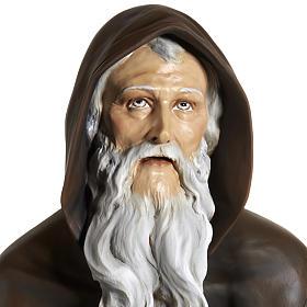 Statua Sant'Antonio Abate vetroresina 160 cm s2