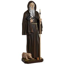 Statua Sant'Antonio Abate vetroresina 160 cm s4