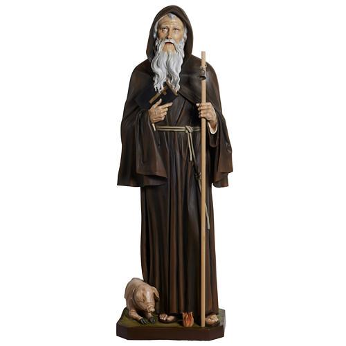 Statua Sant'Antonio Abate vetroresina 160 cm 1