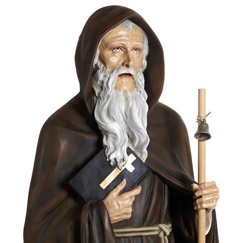 Statua Sant'Antonio Abate vetroresina 160 cm 5