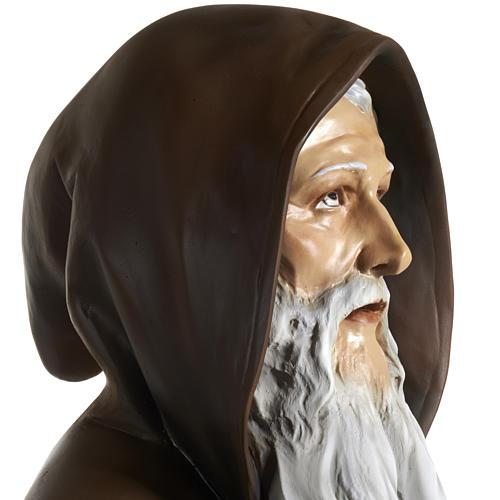 Statua Sant'Antonio Abate vetroresina 160 cm 6