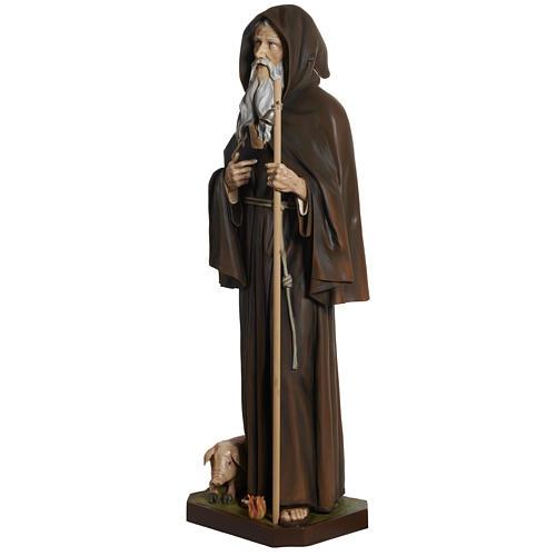 Statua Sant'Antonio Abate vetroresina 160 cm 8