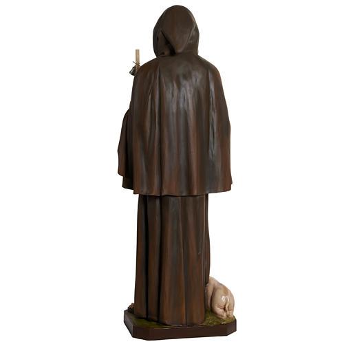 Statua Sant'Antonio Abate vetroresina 160 cm 13