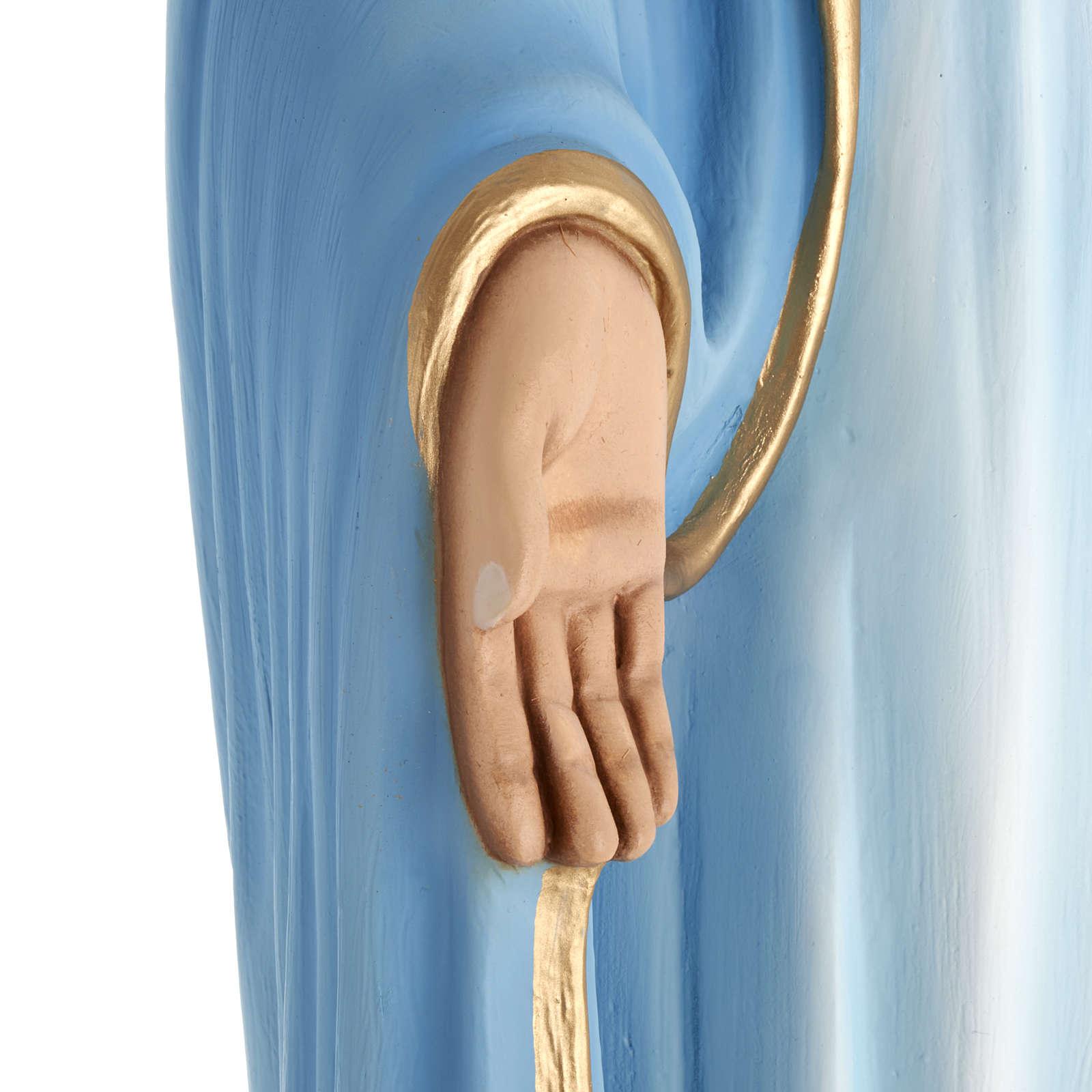 Estatua de la Virgen Inmaculada 100 cm  fibra de vidrio 4