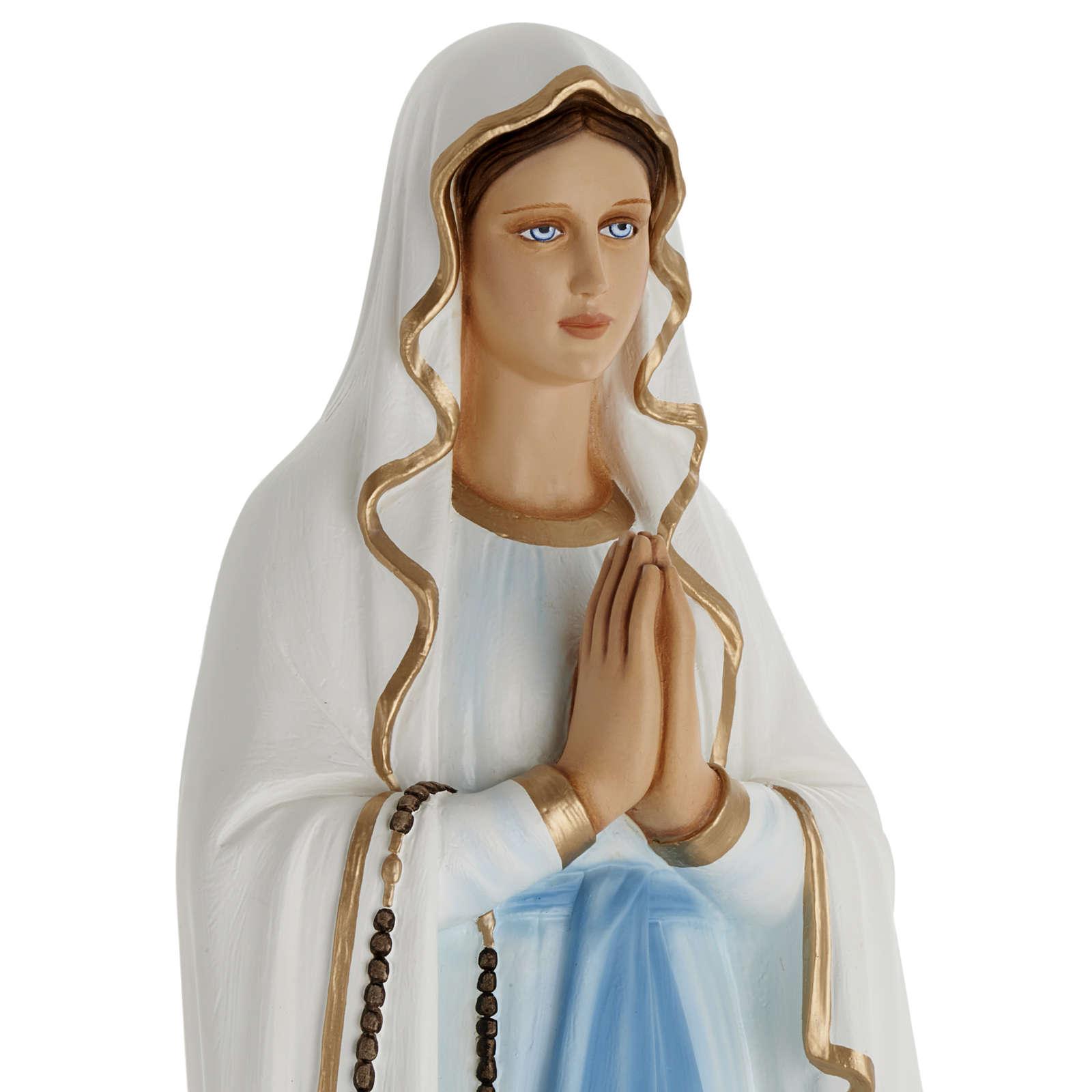 Statue Notre-Dame de Lourdes fibre de verre 100 cm 4