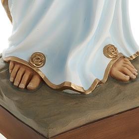 Our Lady of Lourdes fiberglass statue 100 cm s3
