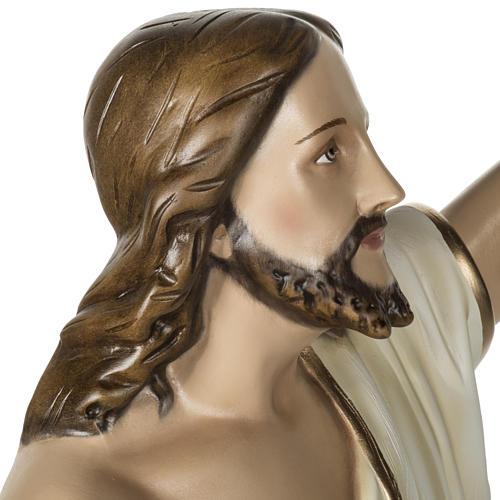 Jesús Resucitado 100 cm fibra de vidrio 12