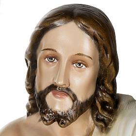 Christ ressuscité fibre de verre 100 cm s6