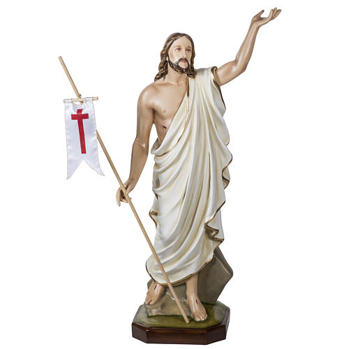 Christ ressuscité fibre de verre 100 cm 1