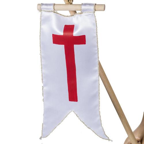 Christ ressuscité fibre de verre 100 cm 3