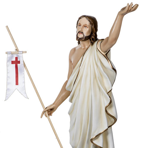 Christ ressuscité fibre de verre 100 cm 5