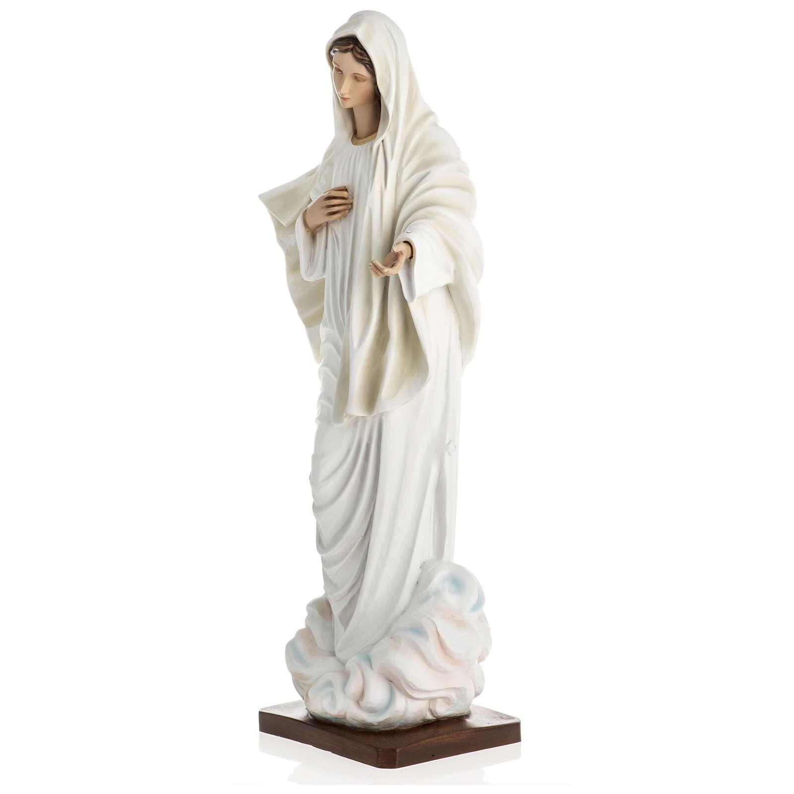 Nuestra Señora de Medjugorje estatua fibra de vidrio 60 cm. 4