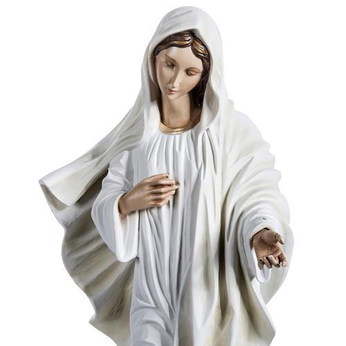 Madonna Medjugorje vetroresina 60 cm 6