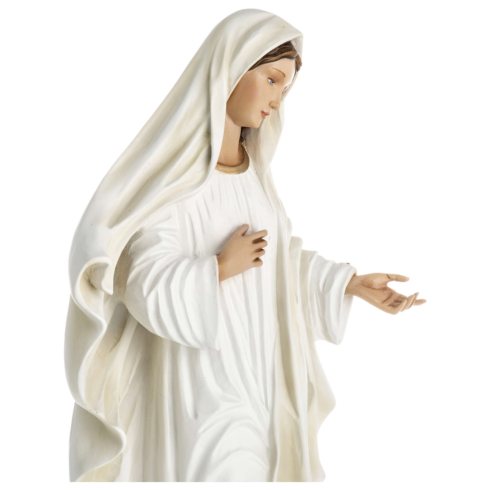 Our Lady of Medjugorje statue in fiberglass 60 cm, special finish 4