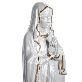 Madonna di Lourdes vetroresina madreperlata oro 60 cm s7