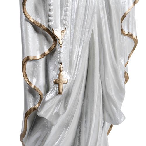 Madonna di Lourdes vetroresina madreperlata oro 60 cm 4