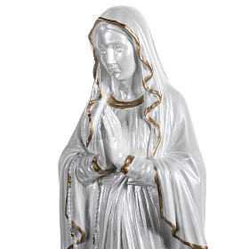 Our Lady of Lourdes Pearlized fiberglass, gold decoration, 60 cm s5