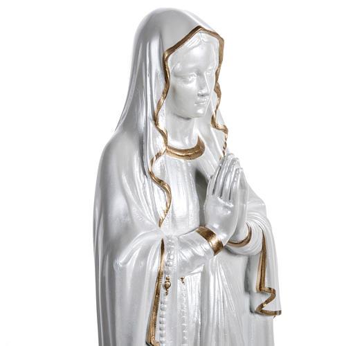 Our Lady of Lourdes Pearlized fiberglass, gold decoration, 60 cm 7