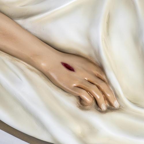 Cuerpo de Cristo 140 cm fibra de vidrio pintada 4